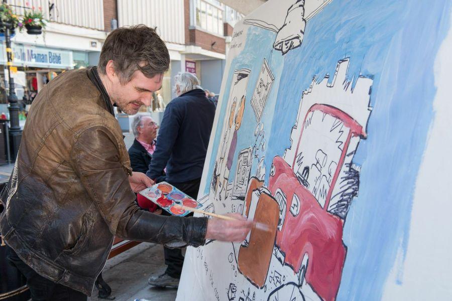 Alex Matthews colouring inside the lines