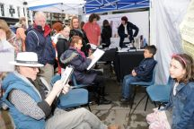Caricaturists draw the crowds