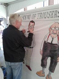 Clive Goddard draws trousers