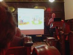 Tony Husband giving his talk at the Unitarian Church