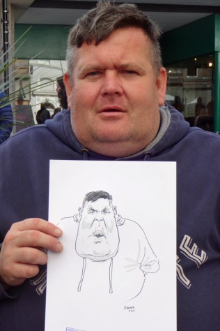 a 2017 visitor and his caricature