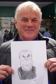 A jonathan Cusick caricature from 2017