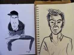 Martins Kangro is a regular festival visitor and this year asked to draw caricaturist Jonathan Cusick while he drew him!
