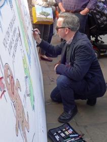 Royston Robertson at work on his Big Board